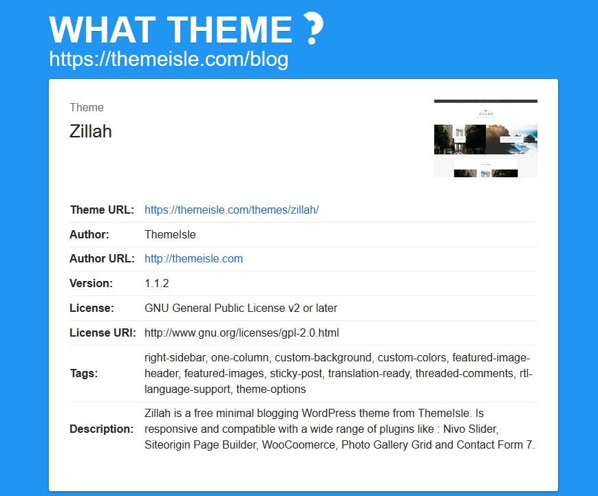 WordPress theme detectors: What Theme