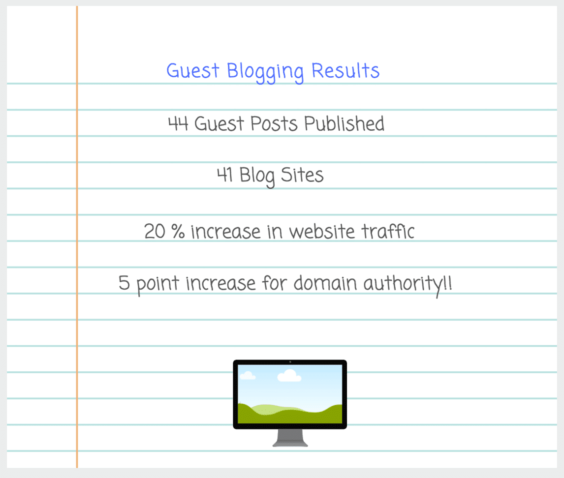 Guest Posting - results of one of the best link building strategies for bloggers
