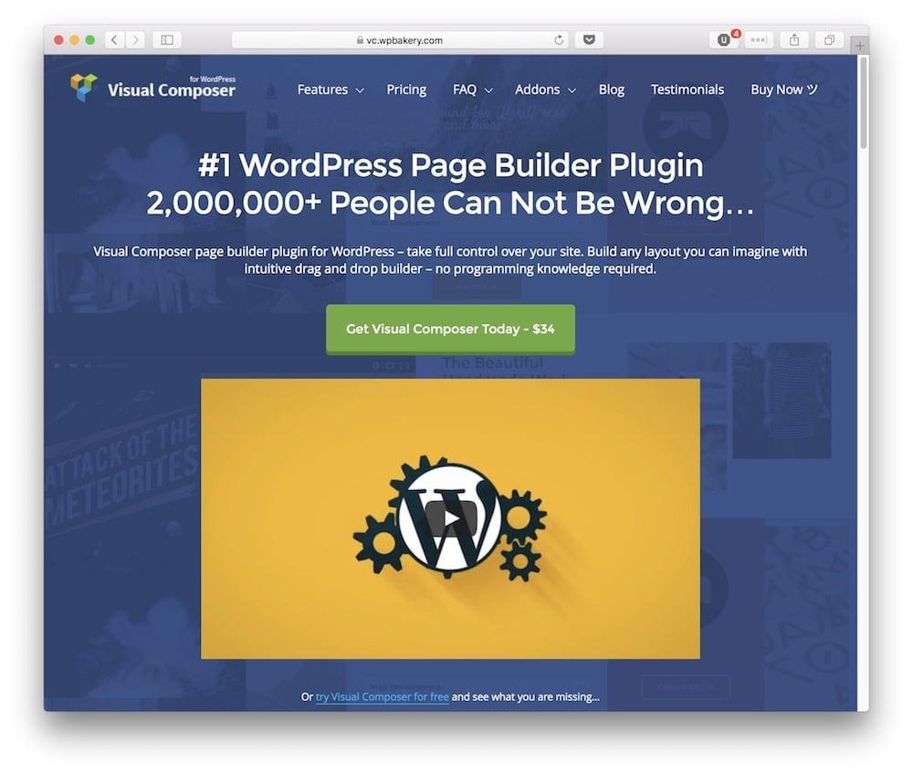 The Visual Builder plugin.