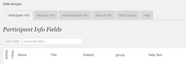 Adding new fields to your database.