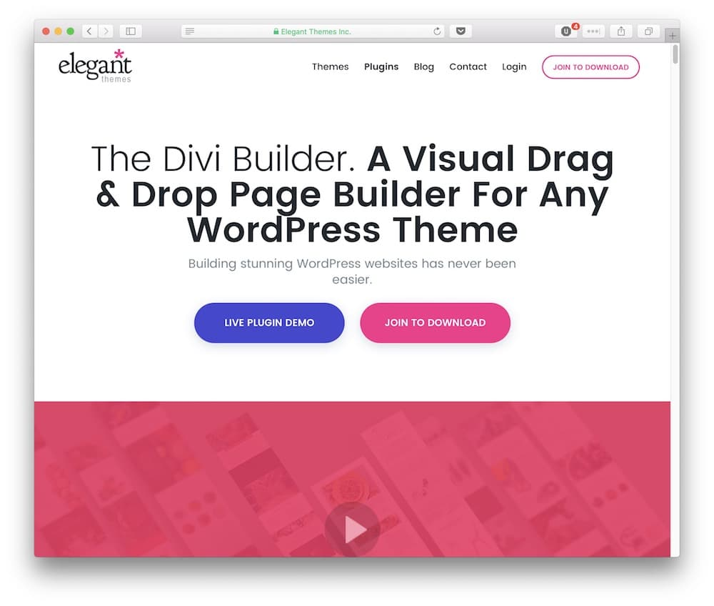 The Divi Builder plugin.