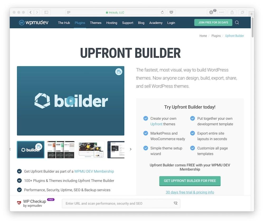 The Upfront Builder.