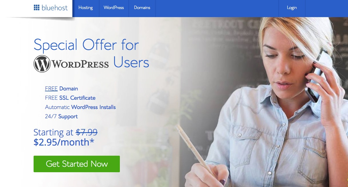 Bluehost - great place to start a personal blog