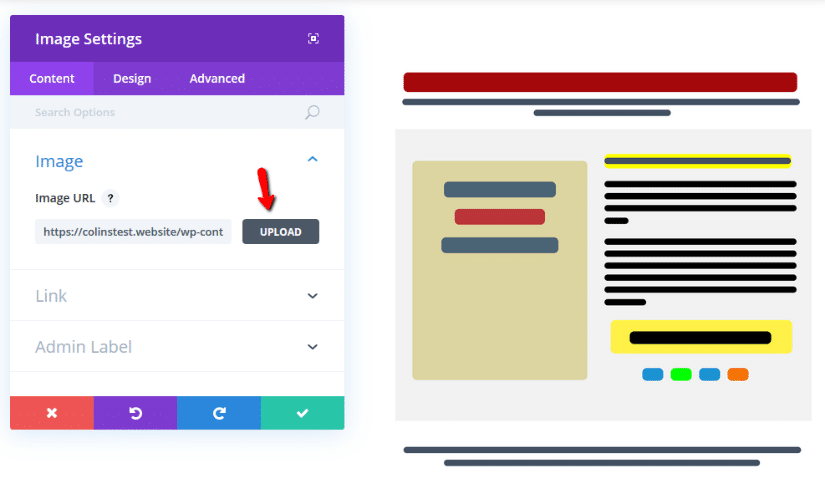 adding an image to divi row