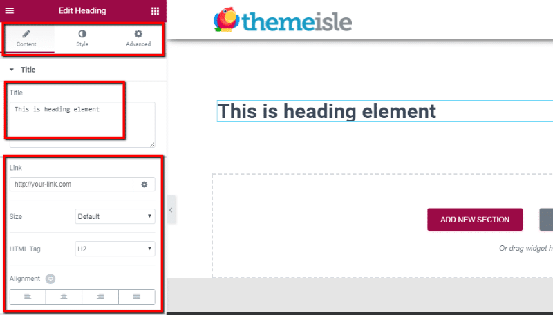 how to edit elementor elements
