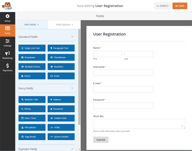 Editing User Registration with a Plugin