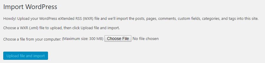 Uploading your XML file.
