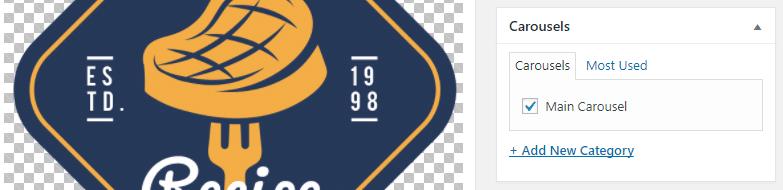 Adding a logo to your carousel.