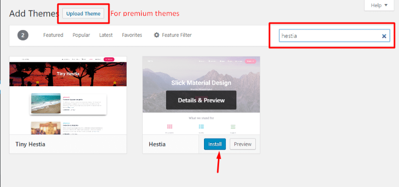 Installing a new WordPress theme