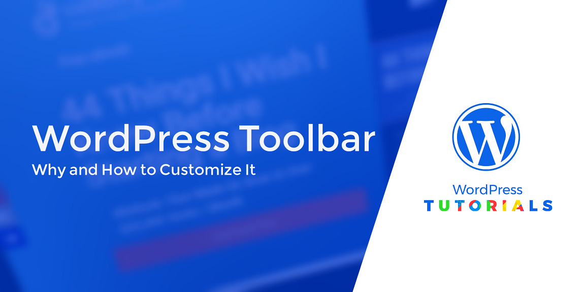 customize the wordpress toolbar