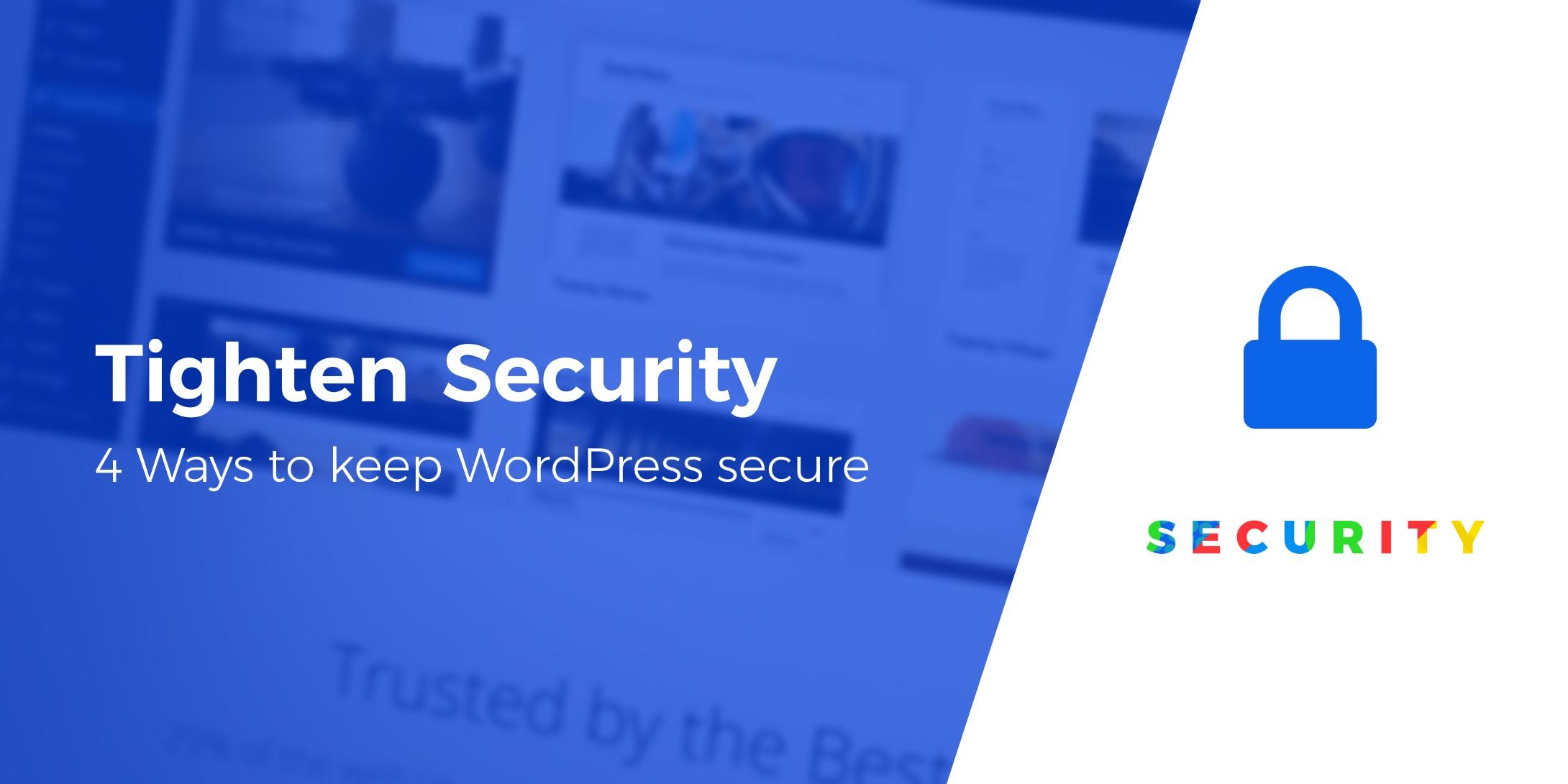 tighten WordPress security