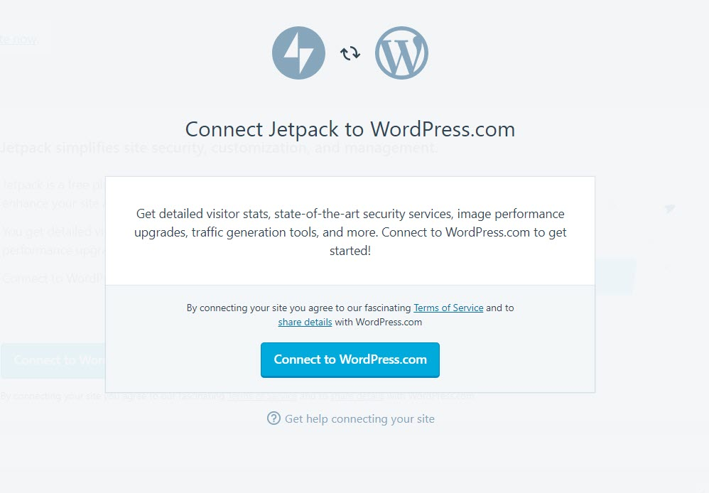 Connect to WordPress.com