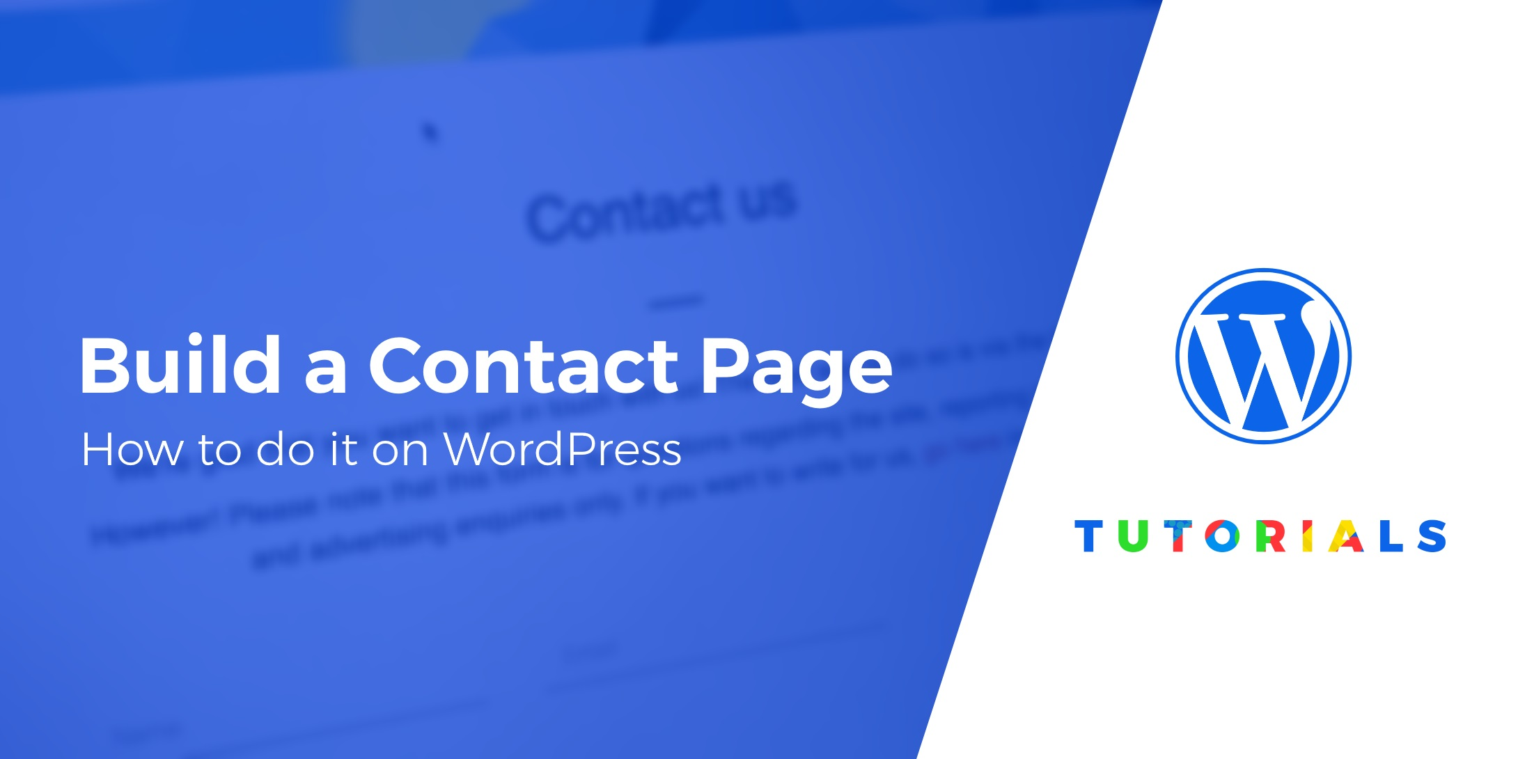 build a contact page on WordPress