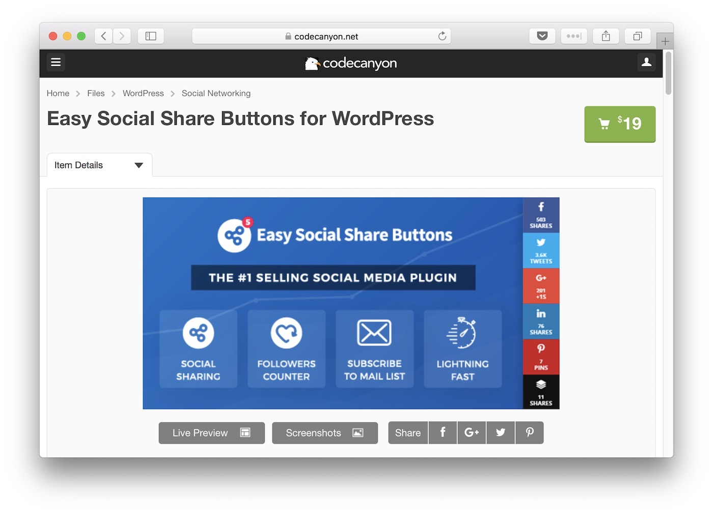 easy social share