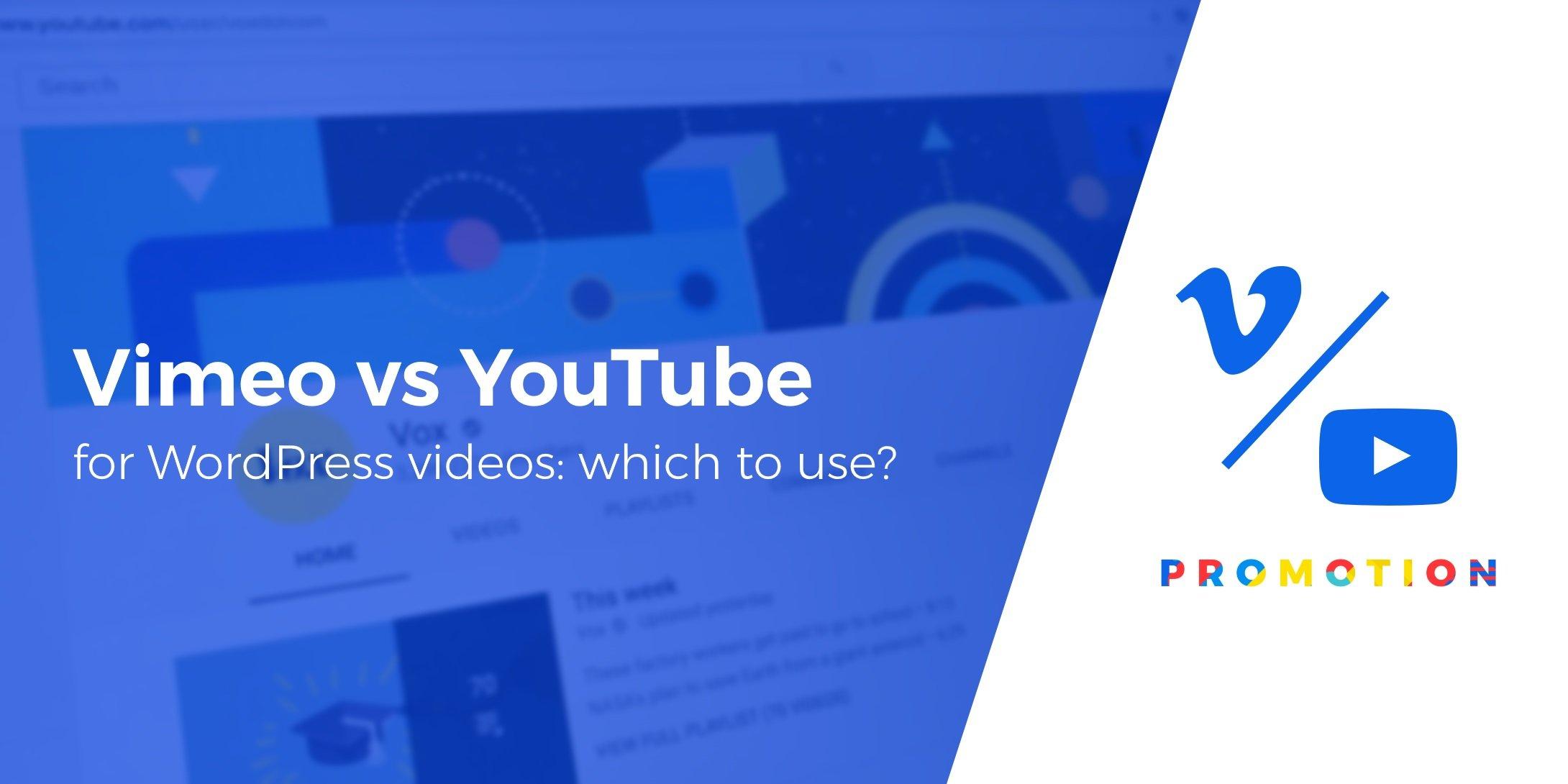 Vimeo vs YouTube for WordPress