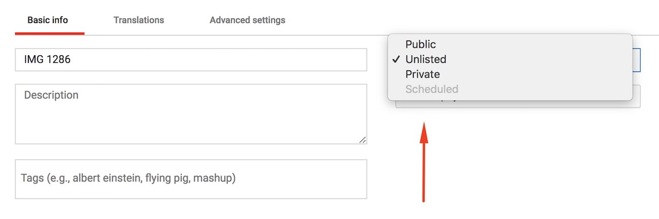 YouTube privacy