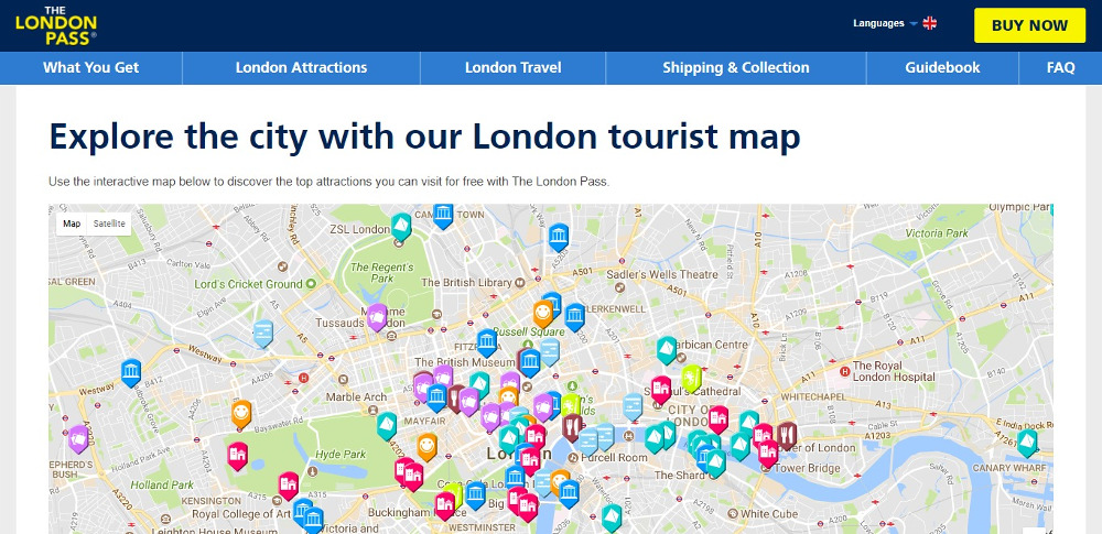 London City Tourist Map.10 Creative Ways To Use Google Maps On Website With Examples