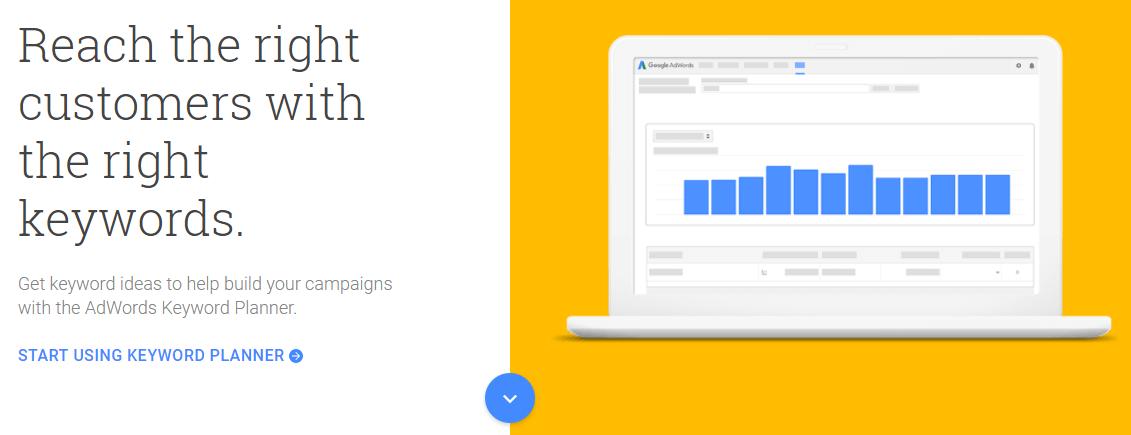 The Google Keywords Planner.