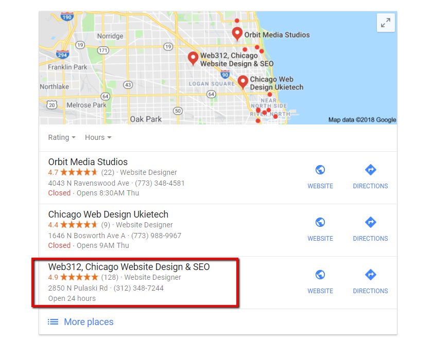hire WordPress developers locally with google web search