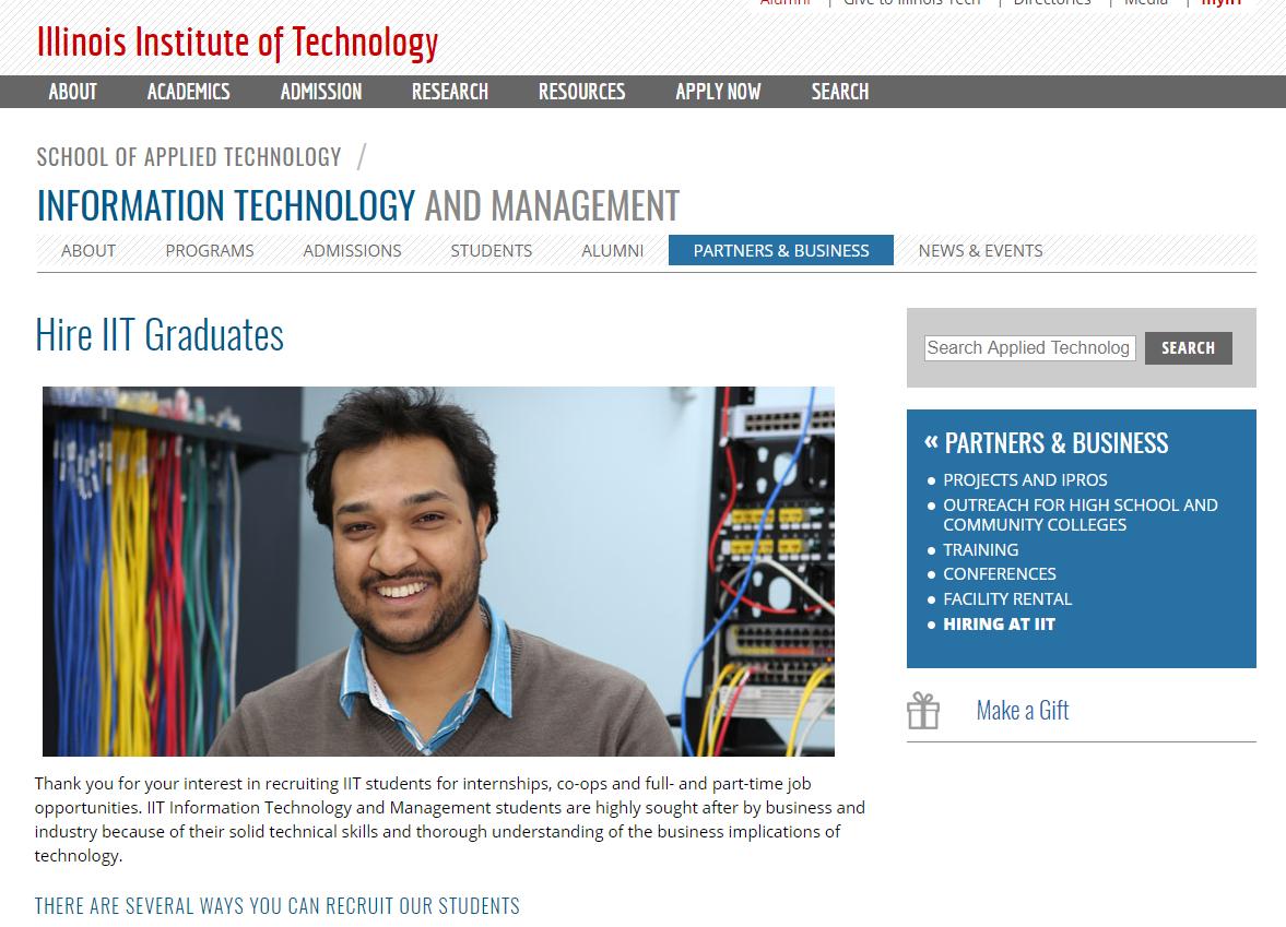IIT web dev department