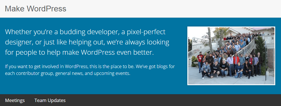 The Make WordPress community website.