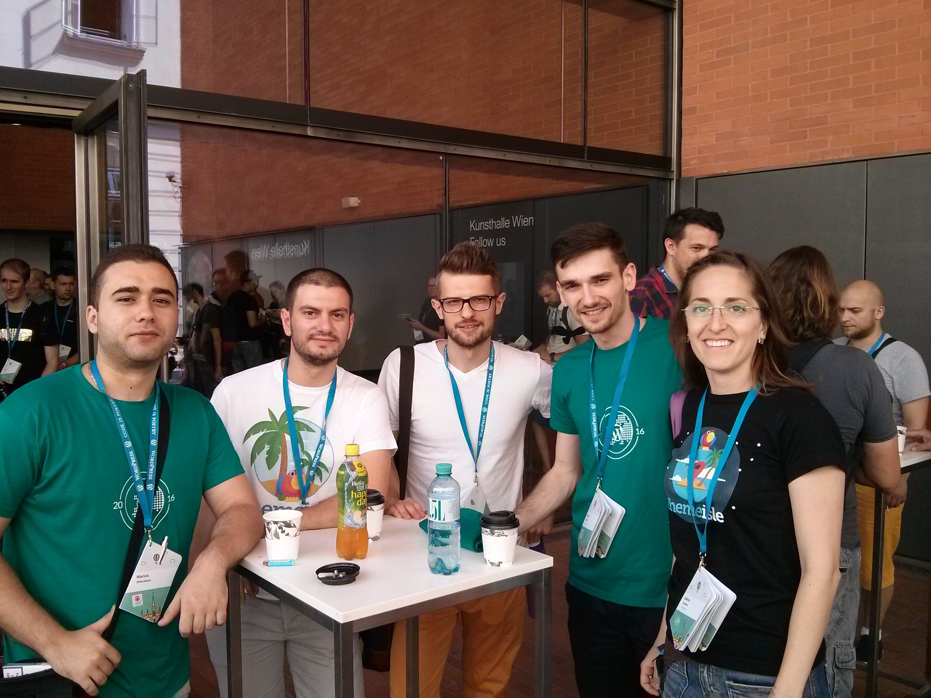 ThemeIsle at WordCamp Europe 2016 in Vienna