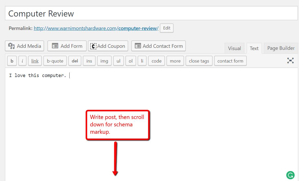 create a blog post