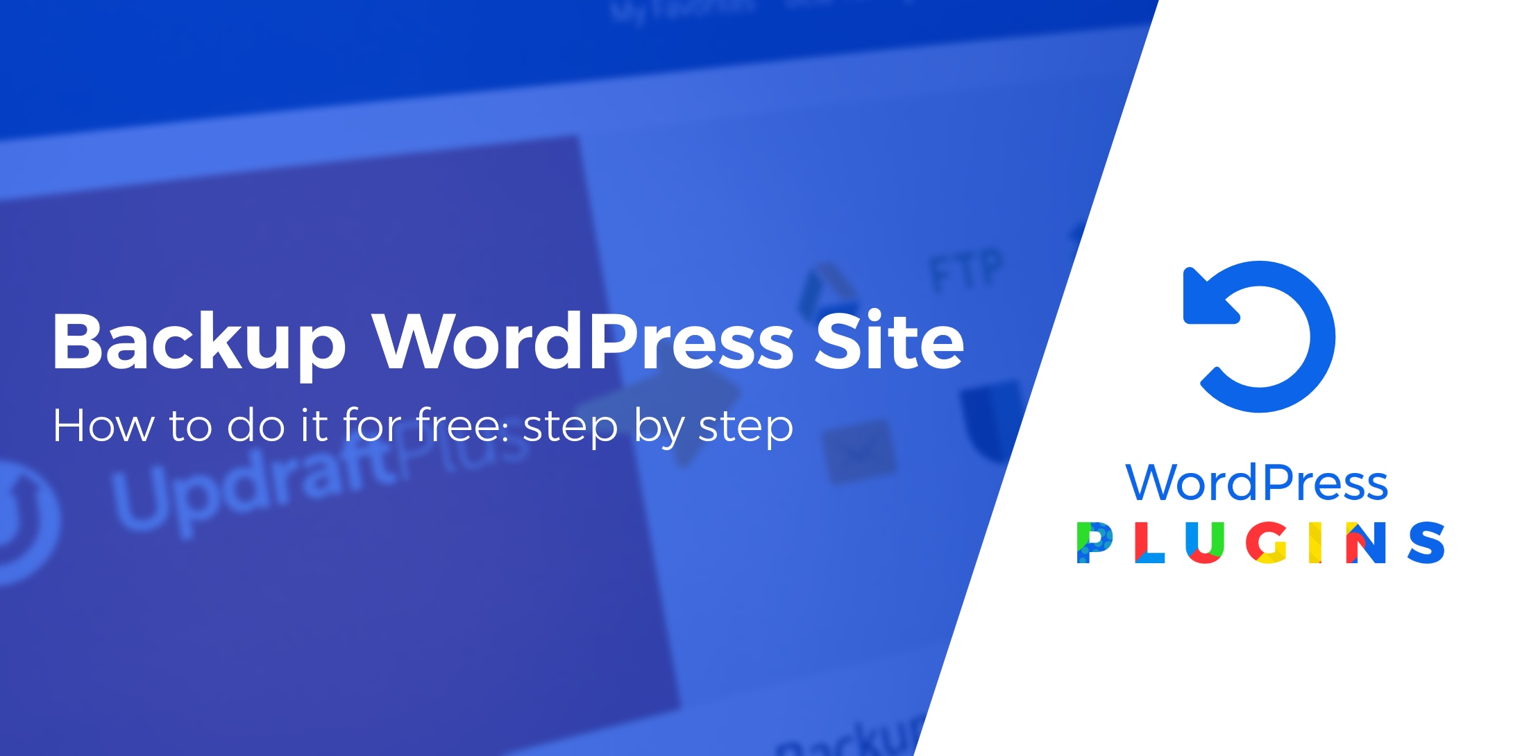 backup a WordPress site for free