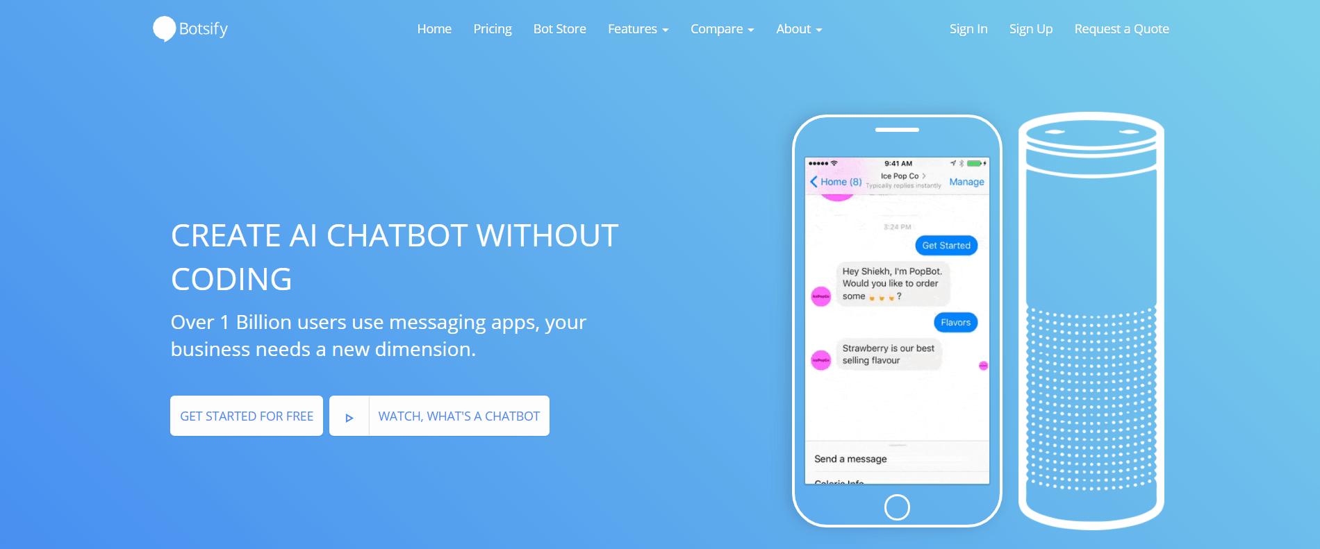 The Botsify chatbot platform.