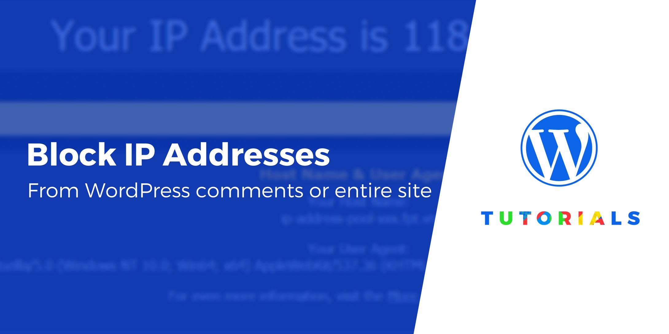 how to block IP addresses in WordPress
