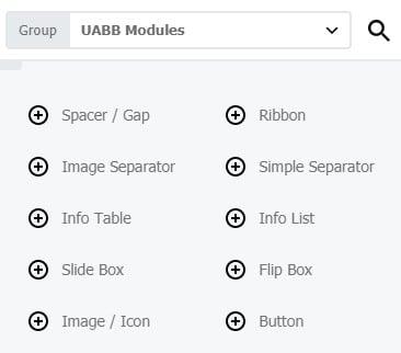 uabb modules