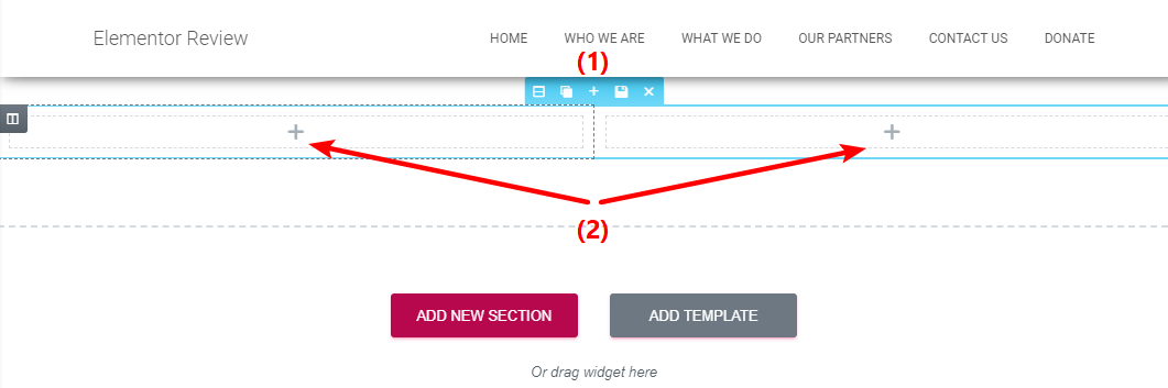 sections vs columns