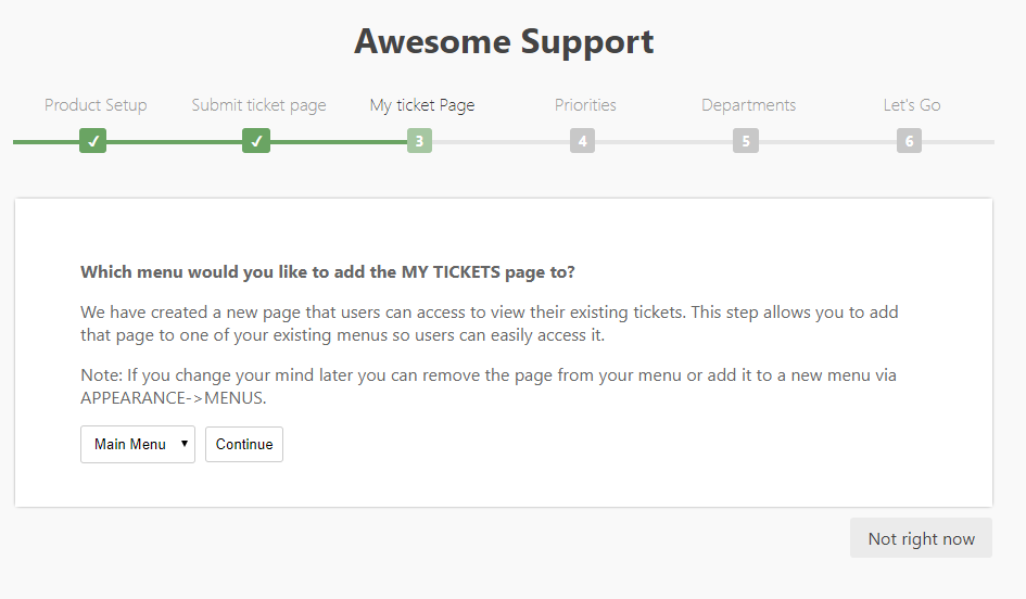 my ticket page