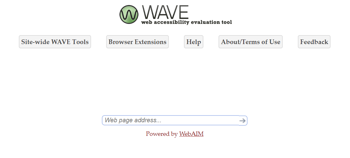 The WAVE accessibility tool.