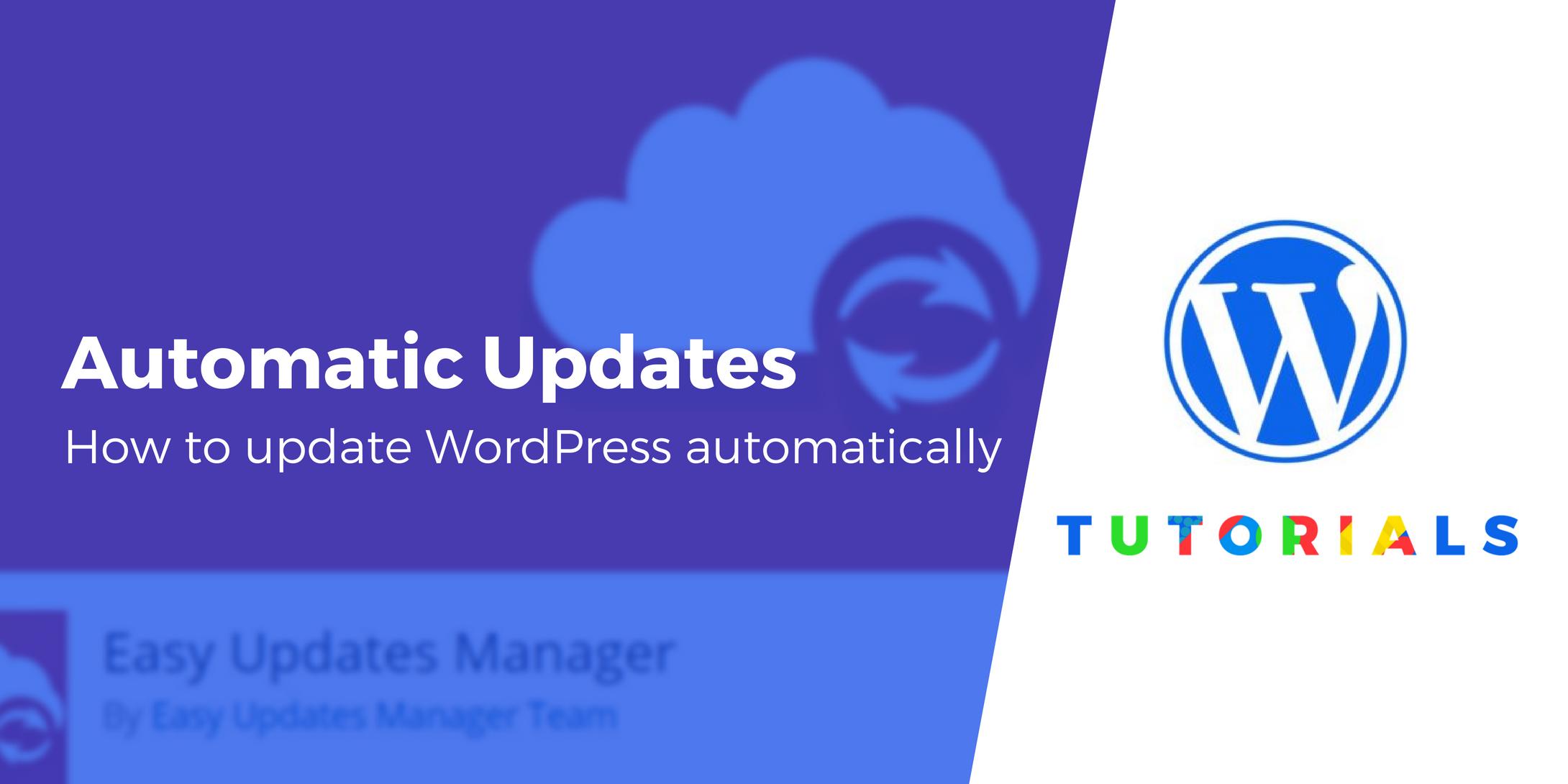 update WordPress automatically