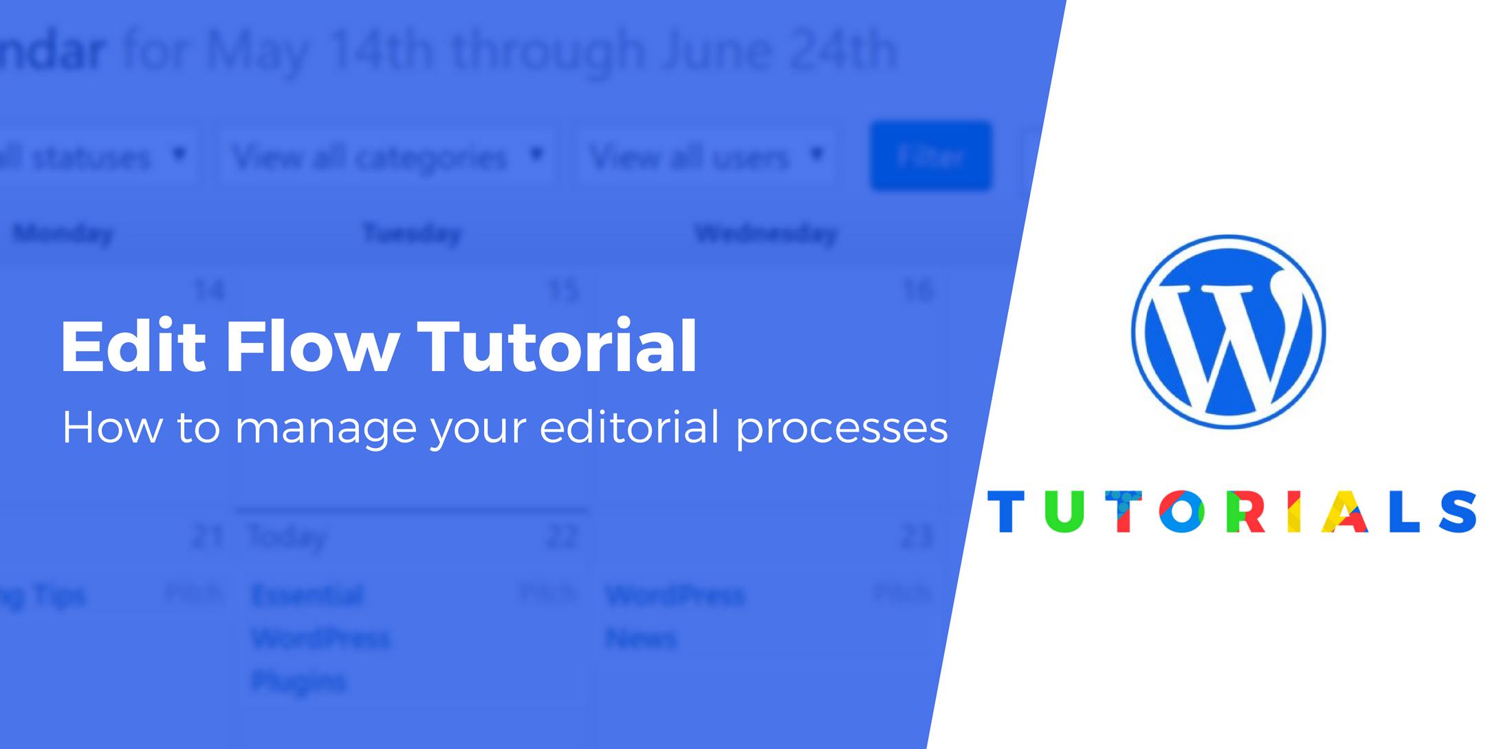 Edit Flow tutorial