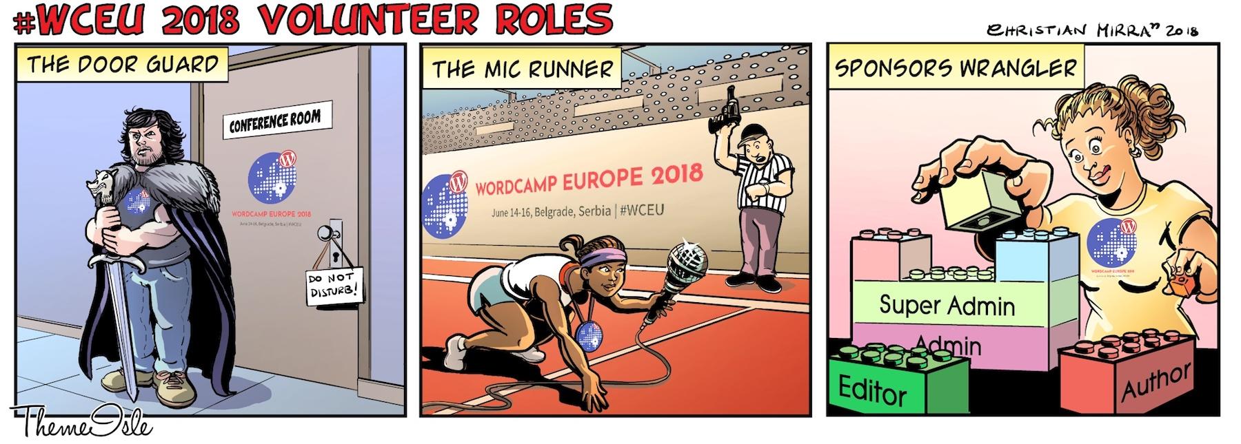 wceu volunteer roles