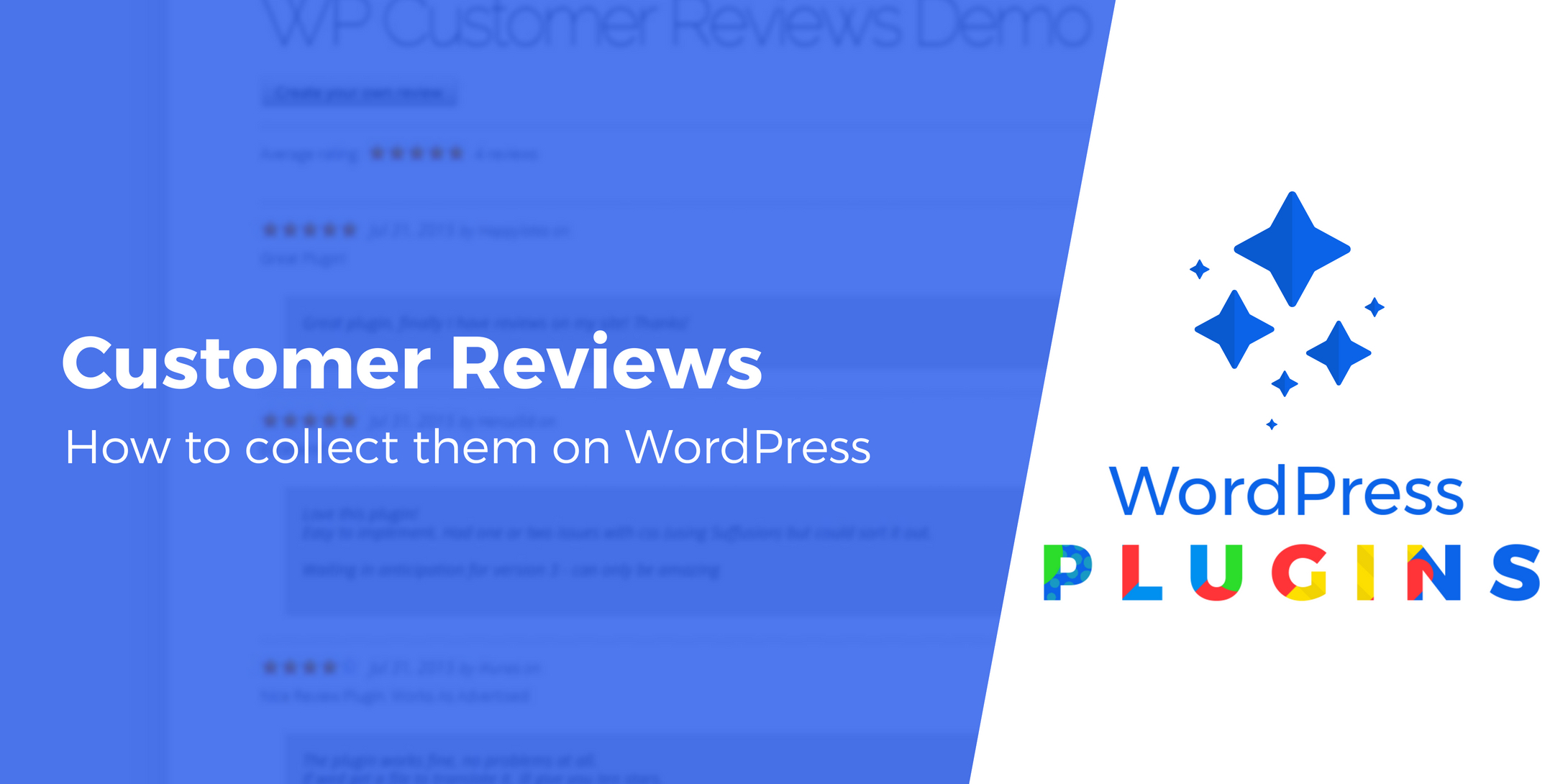 WordPress customer reviews