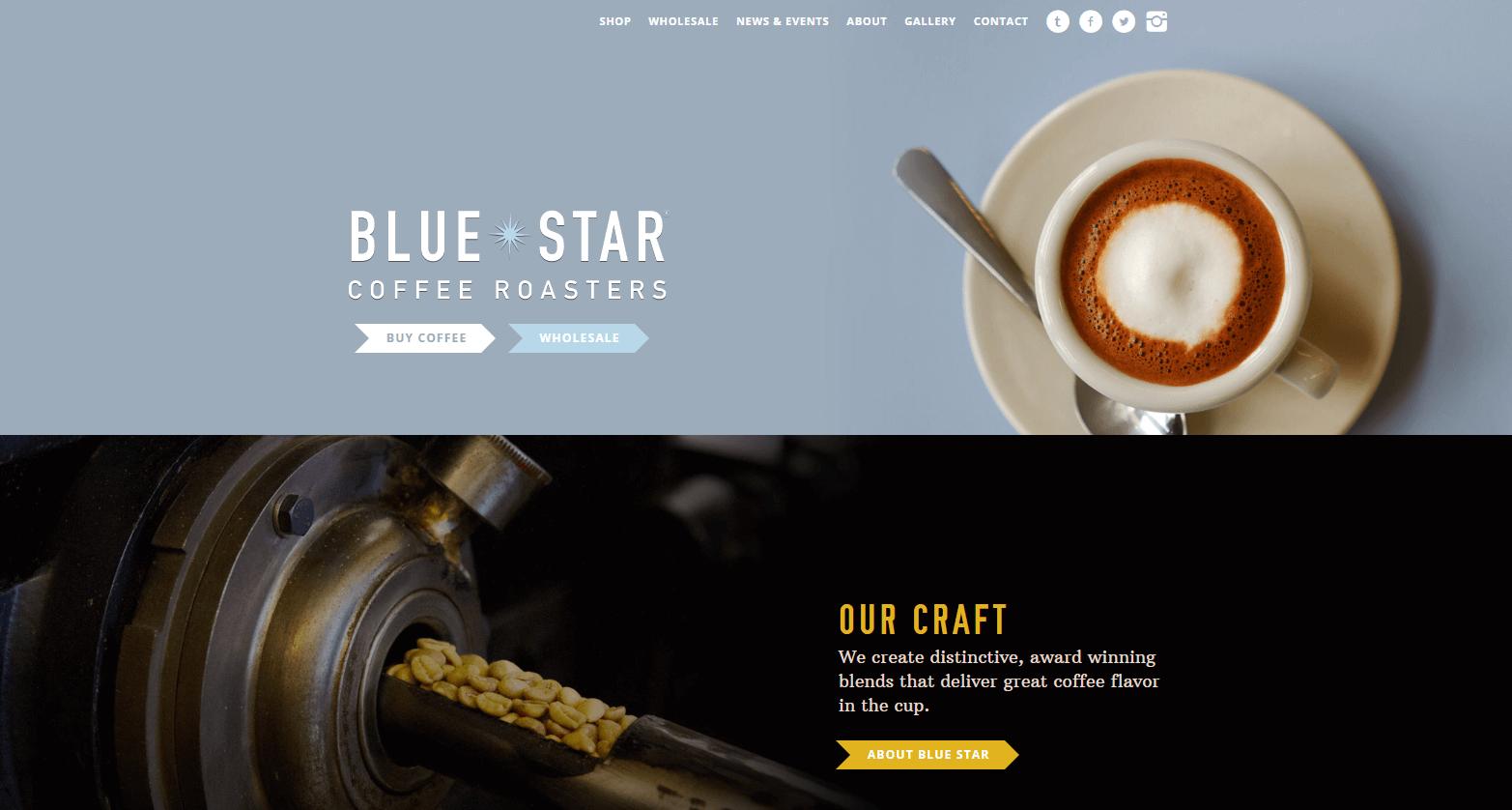 The Blue Star website.