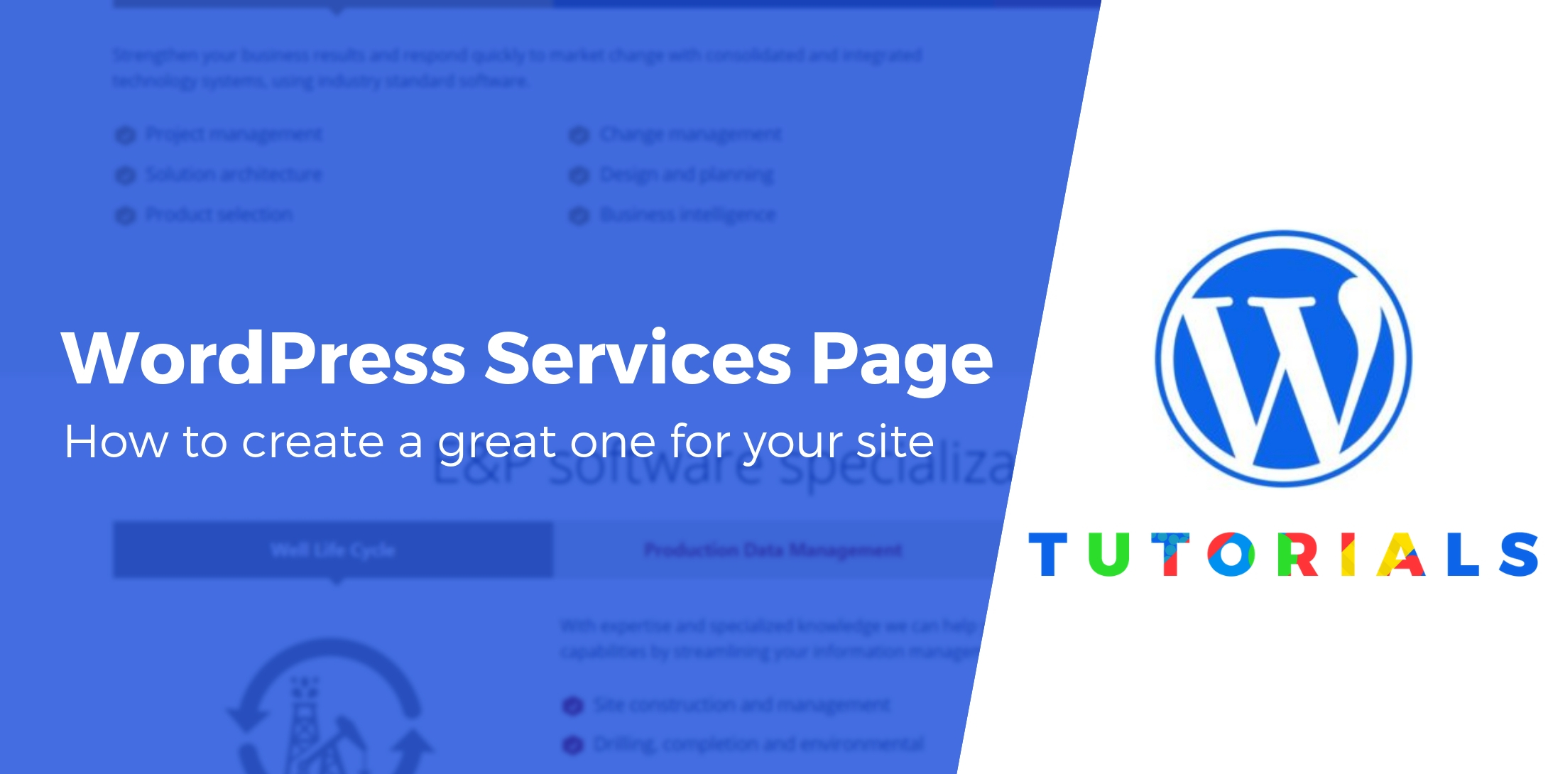 how to write a services page