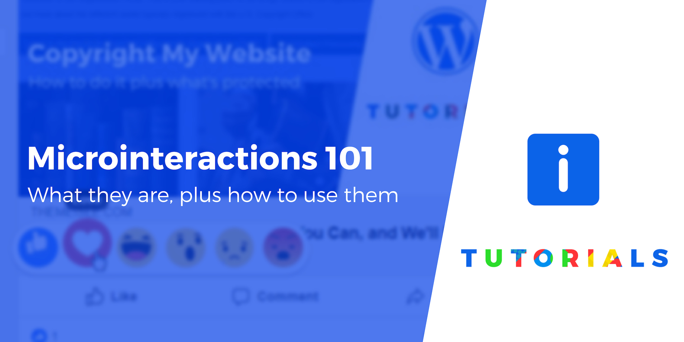 Microinteractions in WordPress