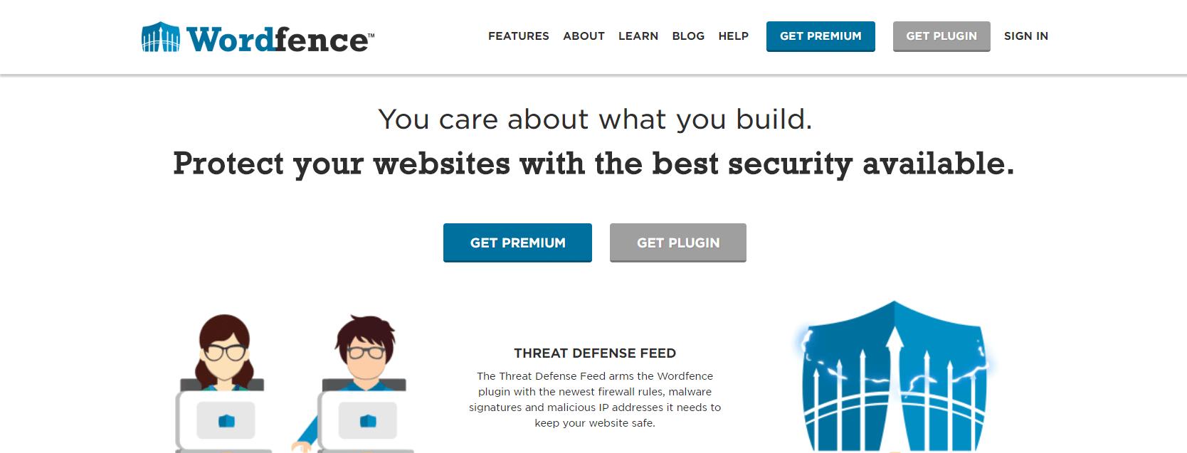 The Wordfence plugin.