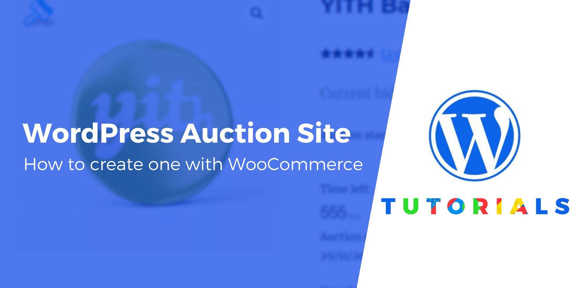 WordPress auction site