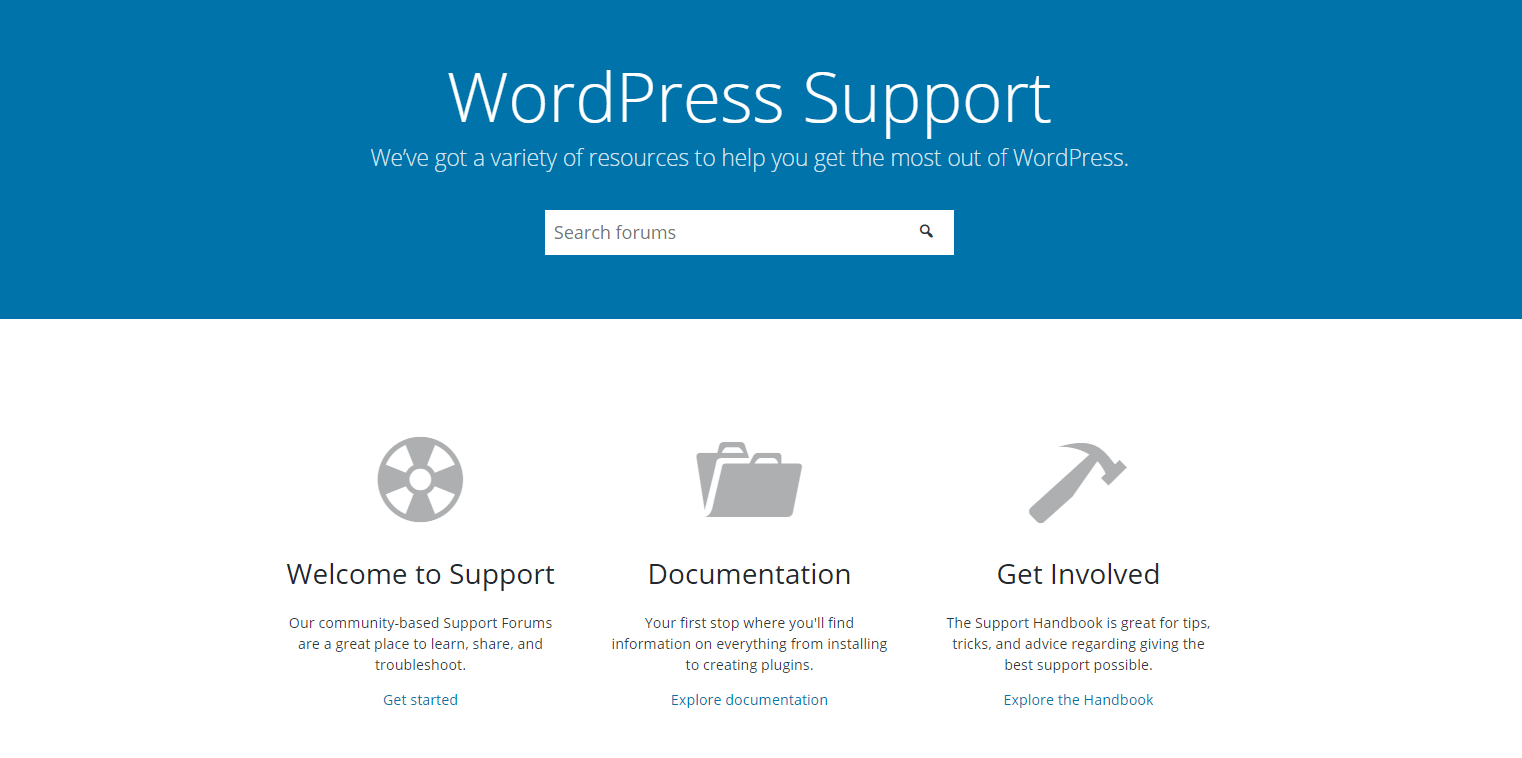The Wordfence support page.