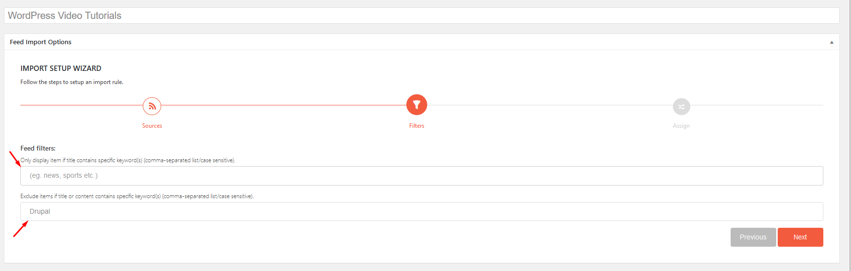 Using Feedzy's feed filter will help you take more control of the aggregated content on your site.