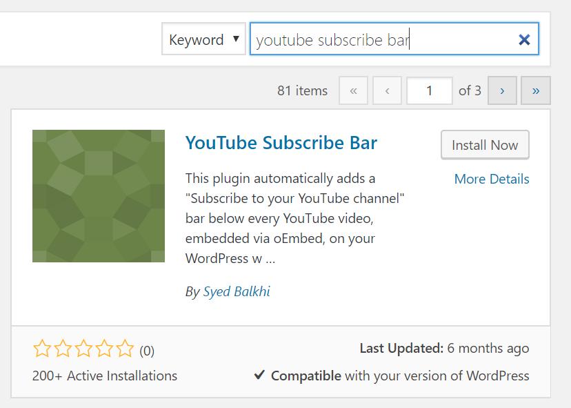 YouTube Subscribe Bar