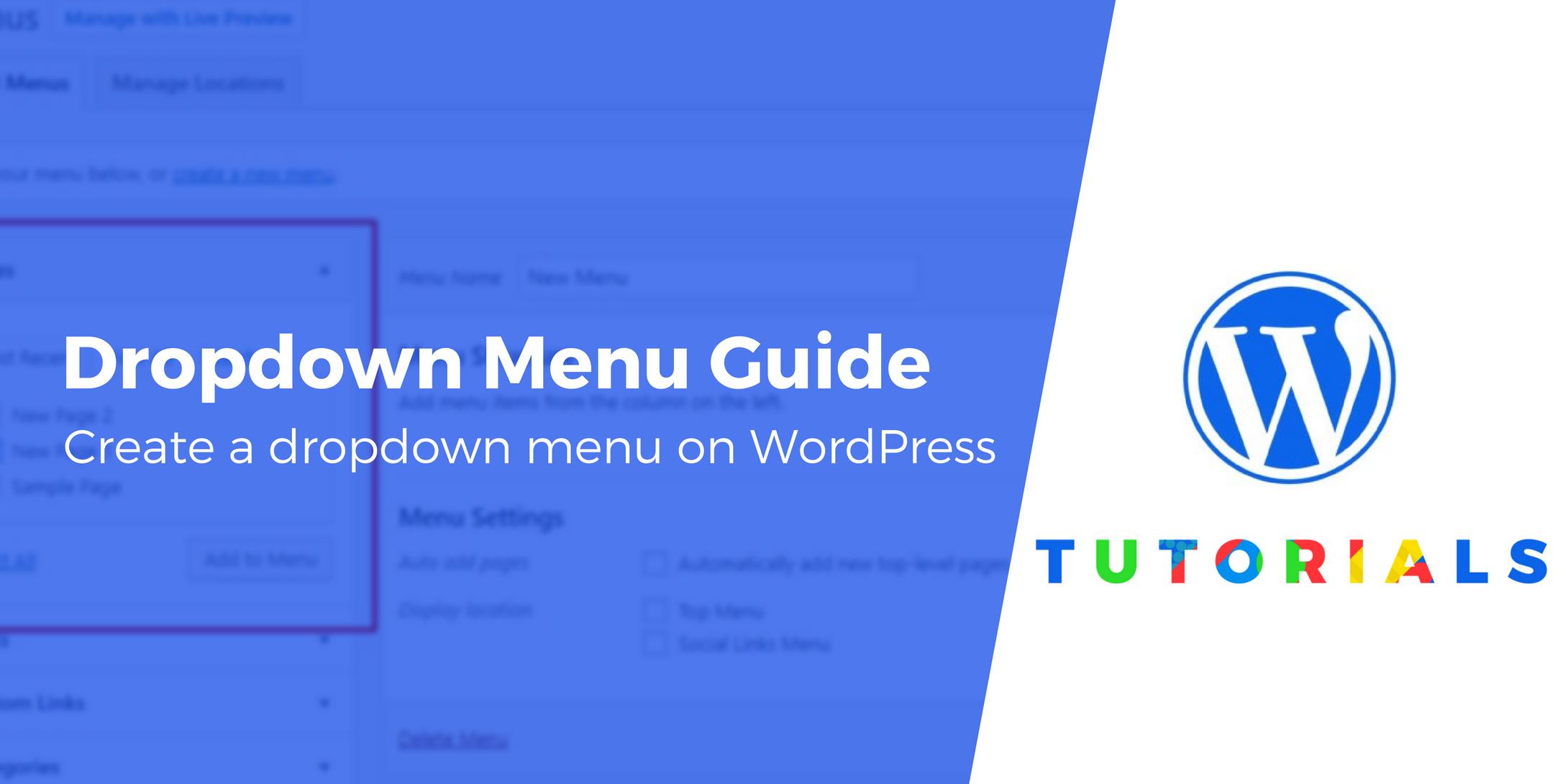 WordPress dropdown menu