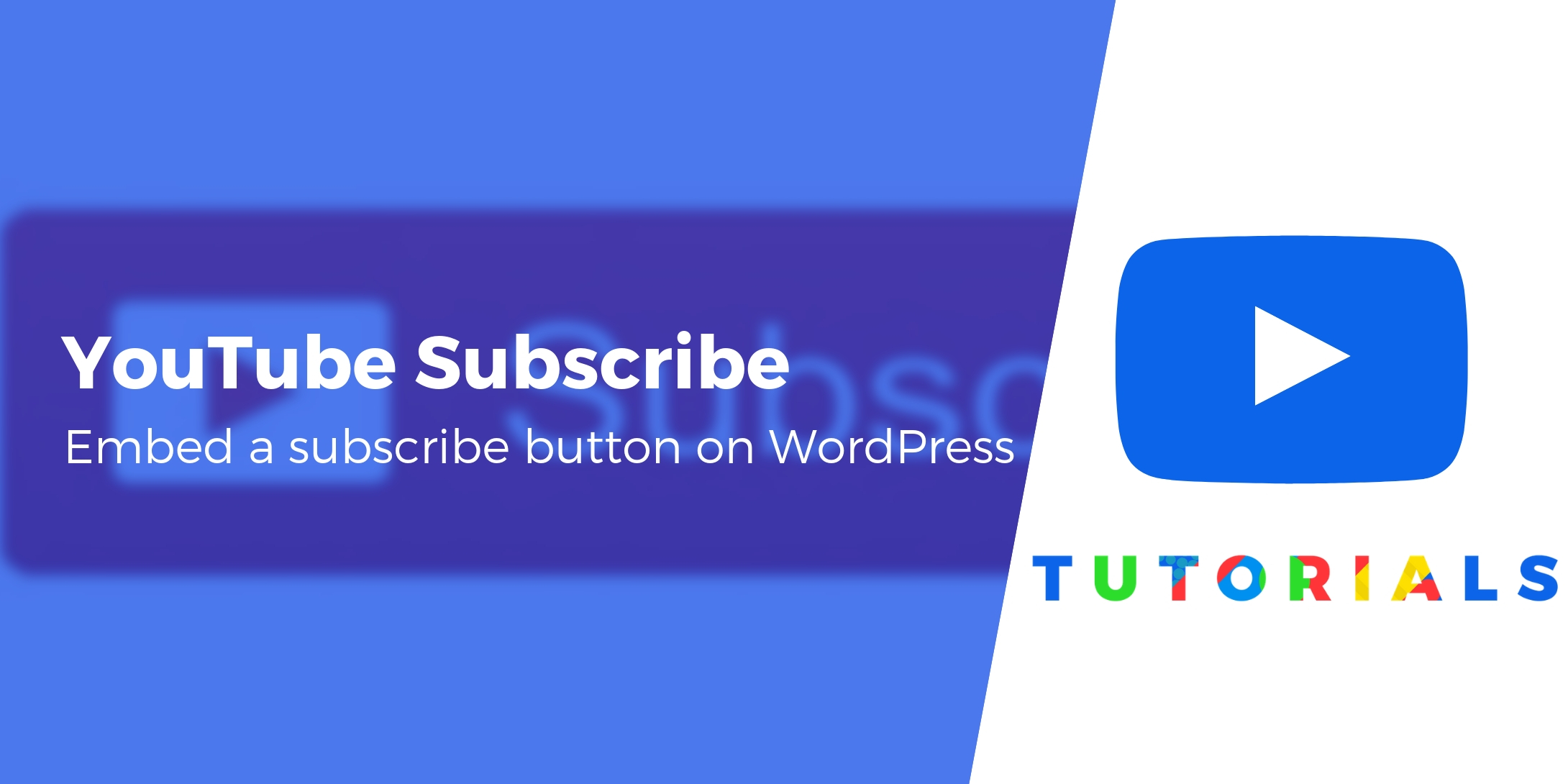 embed a youtube subscribe button