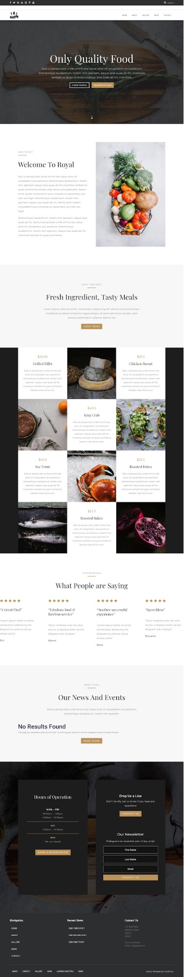 landing page with Divi Builder