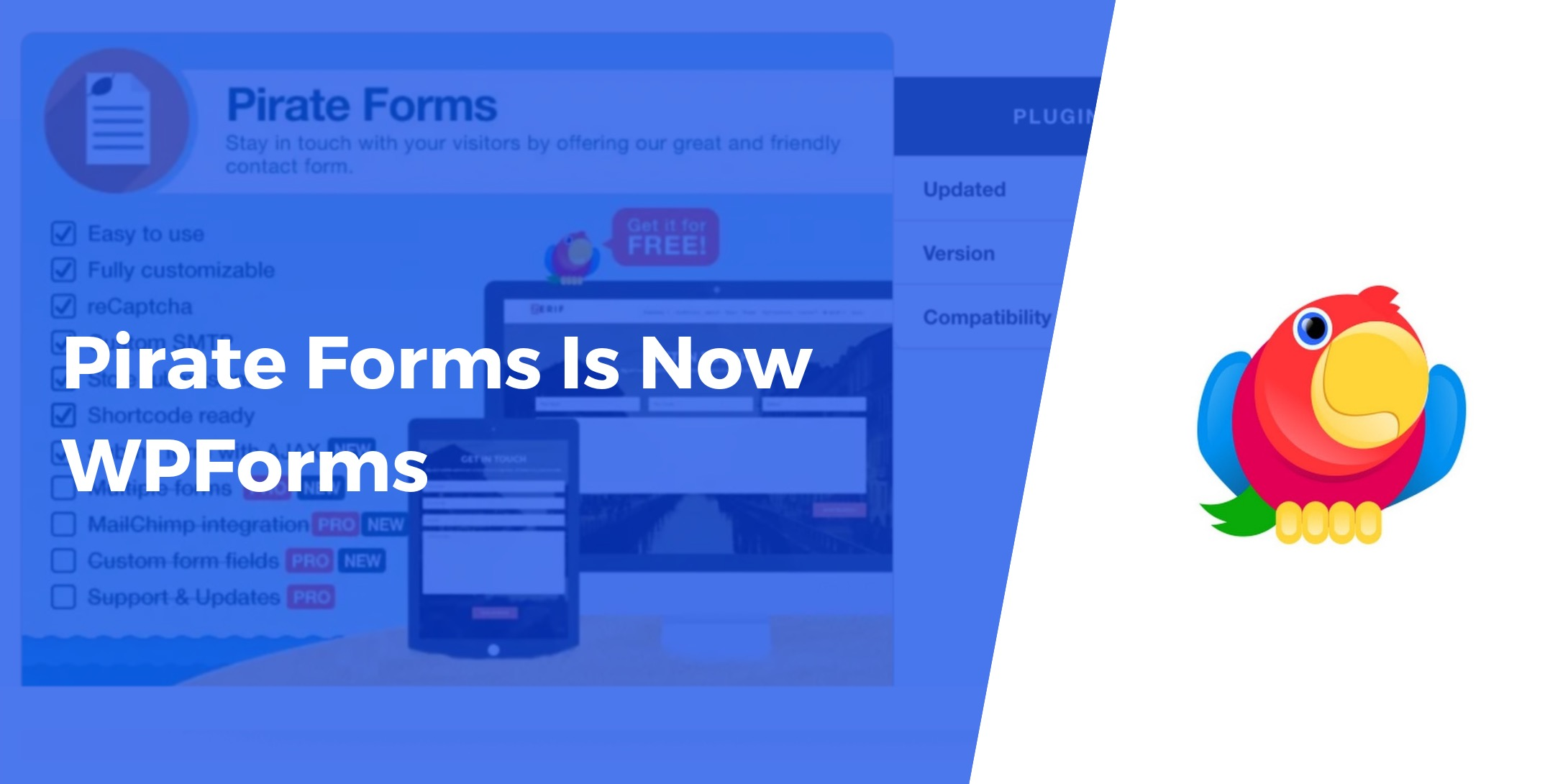 Pirate Forms Is Now WPForms 🎊🍾